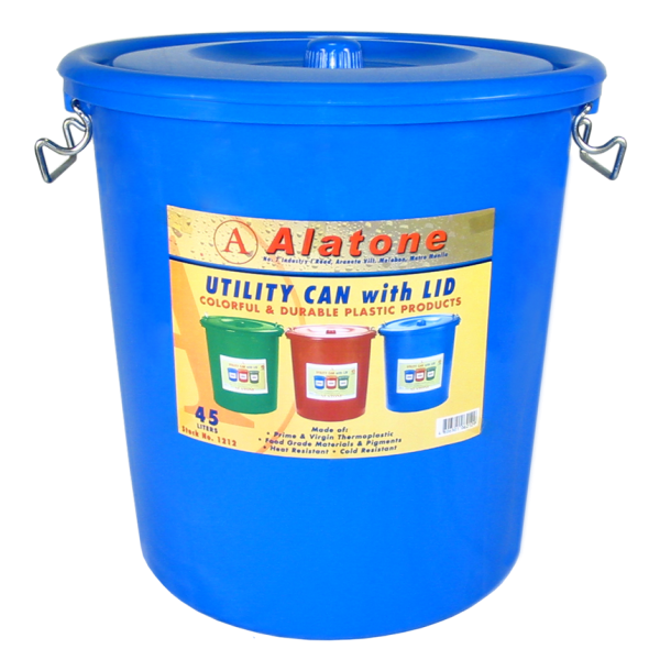 12 Gallon Can w/ Lid & Steel Lock