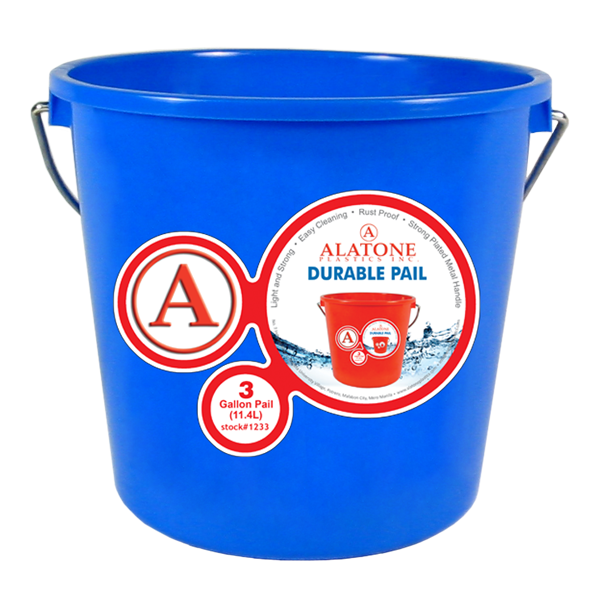 3 Gallon Pail w/ Steel Handle