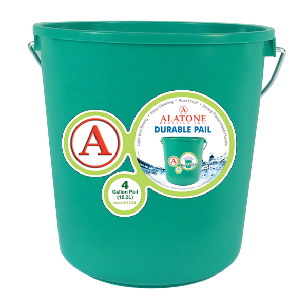 4 Gallon Pail w/ Steel Handle
