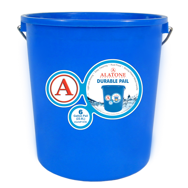 6 Gallon Pail w/ Steel Handle